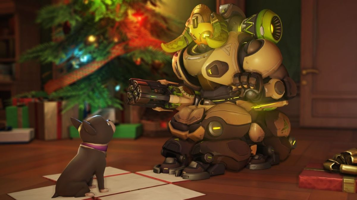 Check out the Overwatch Winter Wonderland 2017 skins and emotes - Orisa got a puppy!