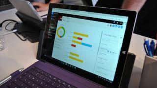 Microsoft Office on a laptop