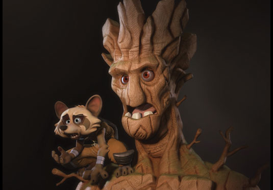 3D art: Rocket and Groot