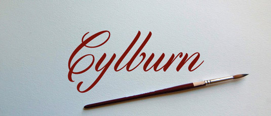 Free brush fonts: Cylburn