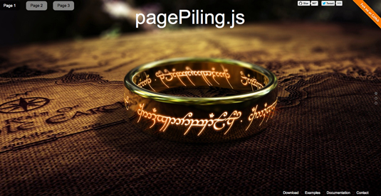 New jQuery plugin: pagePilling.js