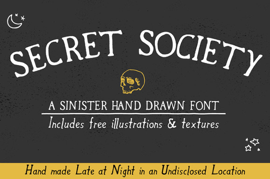 Free Halloween font: Secret Society