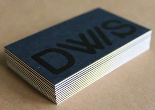 letterpress business cards: Derek Walsh