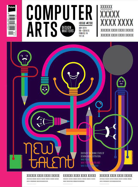Cover design for CA's New Talent issue by Arjun Makwana