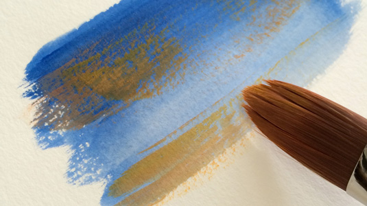 How to paint with gouache: dry brushing