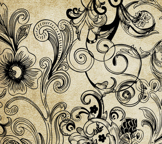 Best free Illustrator brushes - Floral vector and brush pack