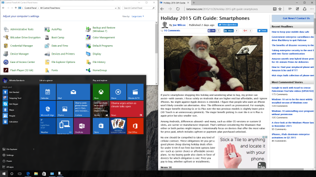 Windows 10 running natively on Mac via Boot Camp 2