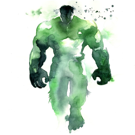 Avengers watercolour
