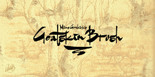Free brush font: Goatskin Brush