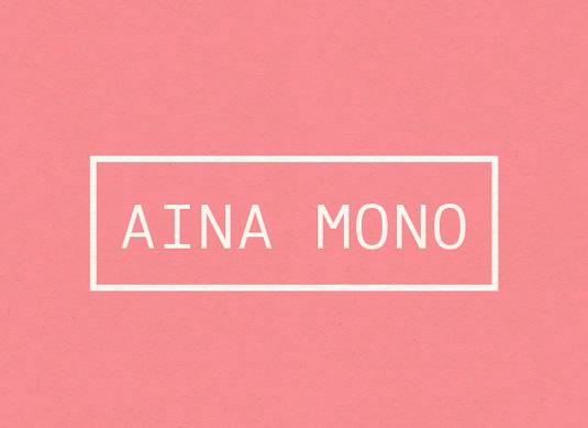 Free font: Aina Mono