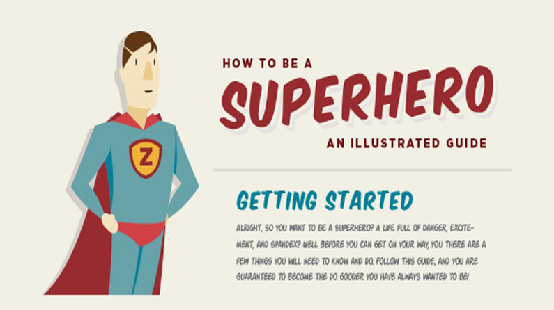Infographic reveals how to be a superhero | Creative Bloq