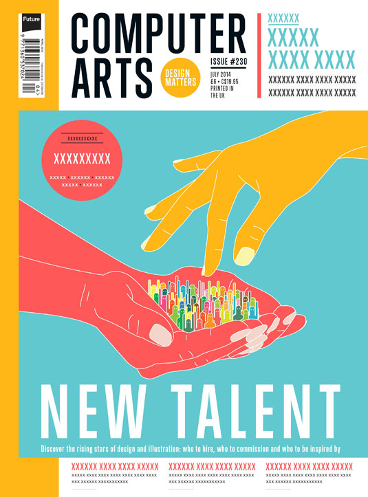 Cover design for CA's New Talent issue by Josh Clarke