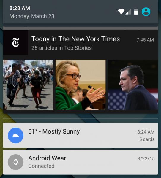 New York Times Notification