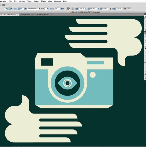 Create retro graphics in Illustrator: step 3