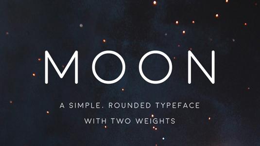 Free font: Moon