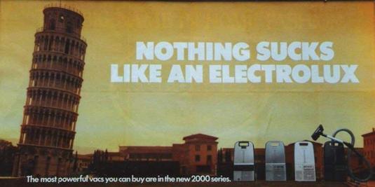 Embarrassing branding blunders - Electrolux