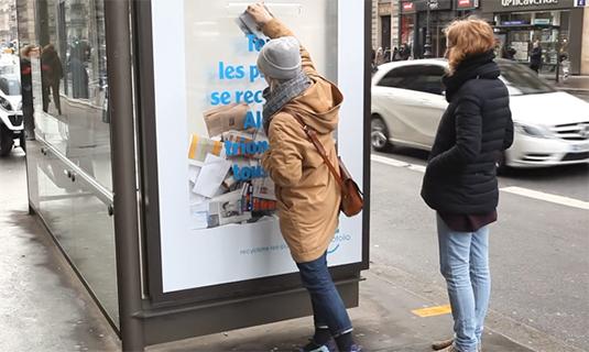 paper art billboard