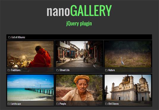 jQuery plugin nanoGALLERY