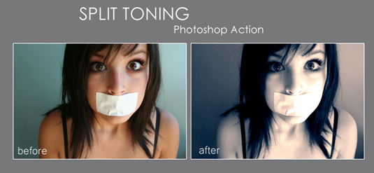 Free Photoshop actions: split toning action