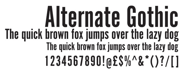 Web fonts: Alternate Gothic