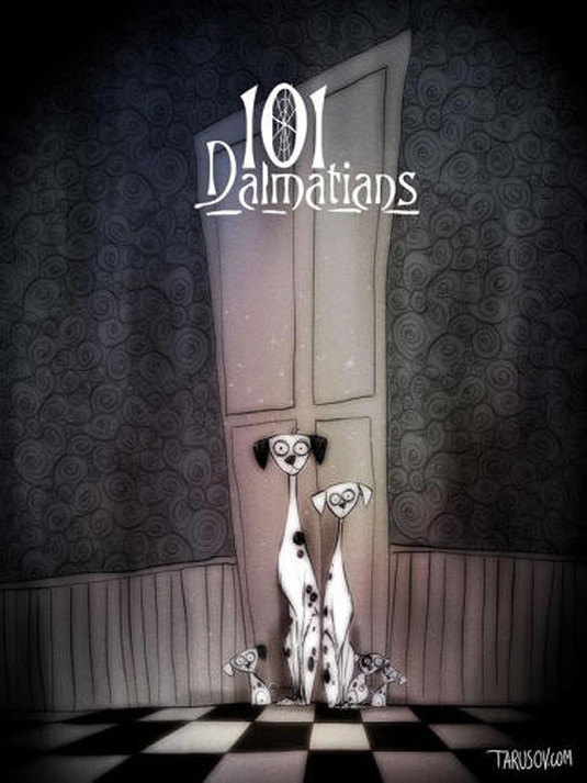 Disney films Tim Burton style: 101 Dalmations