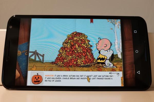 Nexus 6 and Charlie Brown App