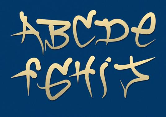 Graffiti font Brock