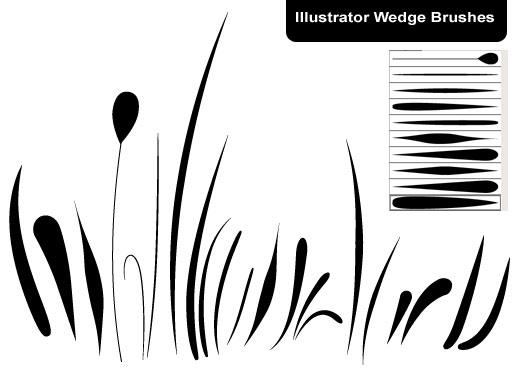 Best Illustrator brushes: wedge