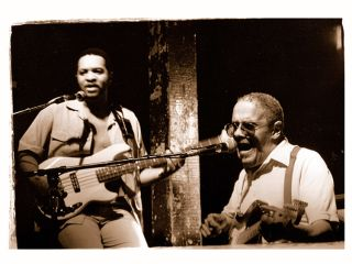 Snooks Eaglin sitting a legend of New Orleans blues