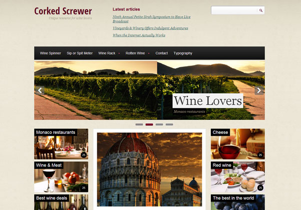 Drupal themes - Corked Screwer
