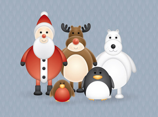 Chris Spooner's Christmas characters