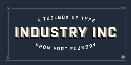 Industry Inc font