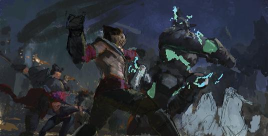 KD Stanton League of Legends Concept step 1