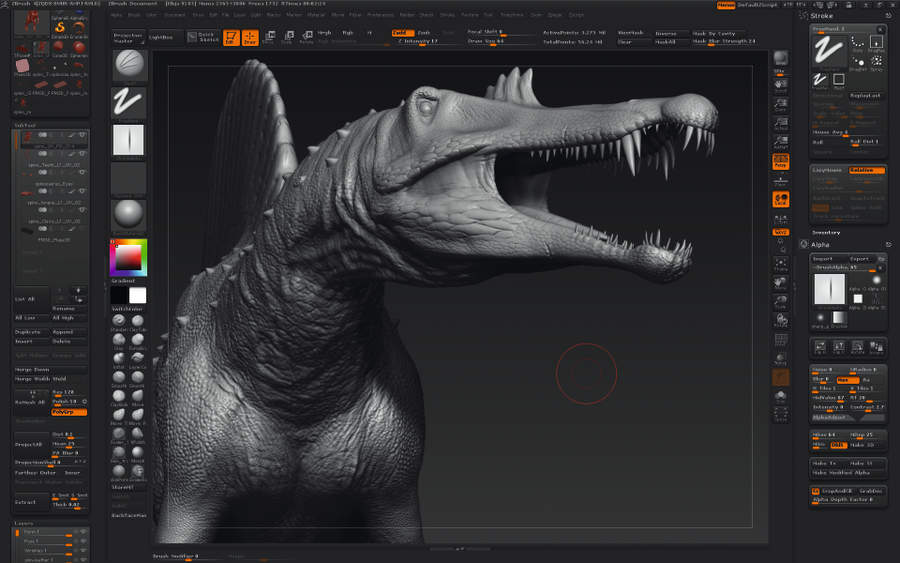 Creating dinosaurs Monster size sculpting