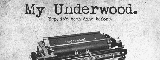 Free typewriter font: My Underwood