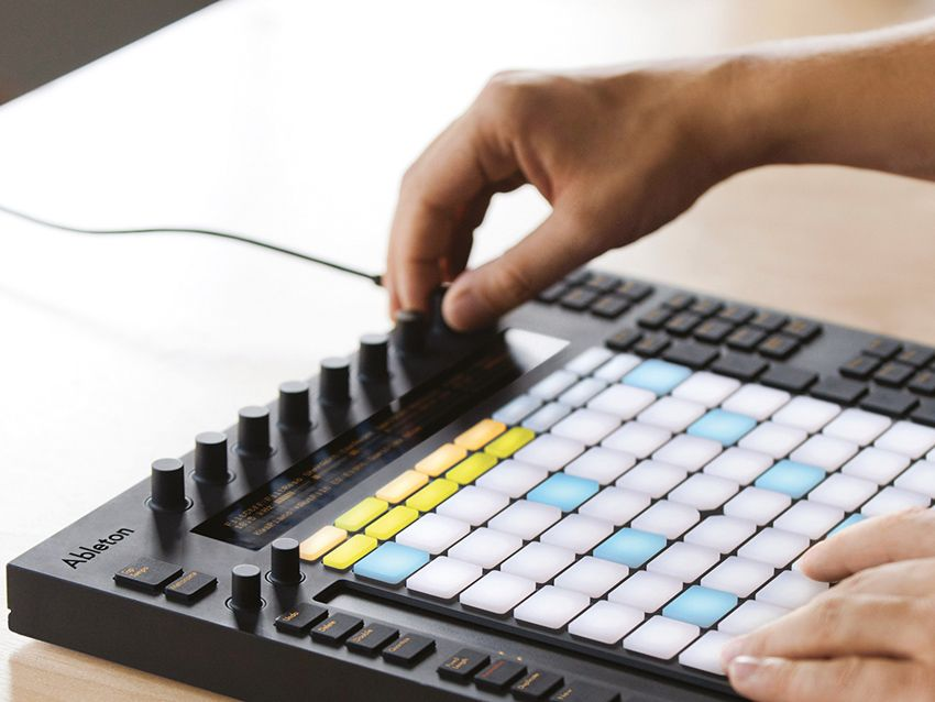 ableton push new live 9 midi controller for writing and performing music musicradar. Black Bedroom Furniture Sets. Home Design Ideas