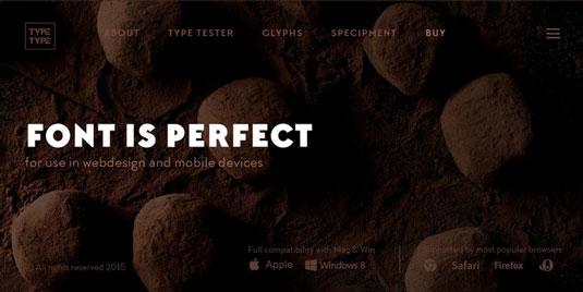 Chocolates font
