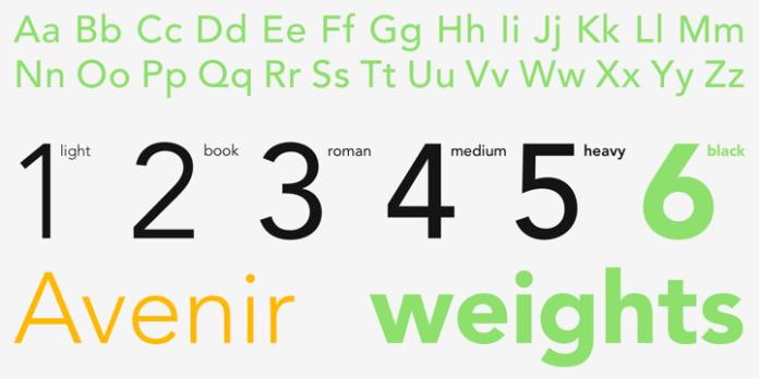 Free web fonts: Avenir