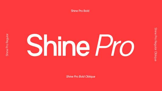 Shine Pro font