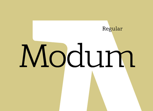 Free font: Modum