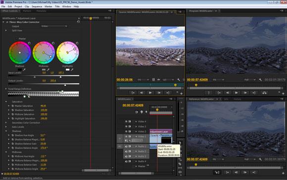 Adobe Premiere Pro CS6: Three-Way-Colour-Corrector