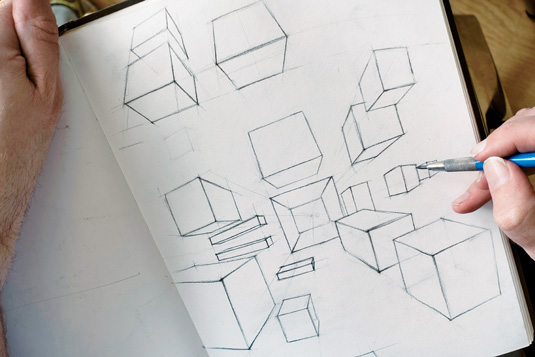 How to draw basic shapes: cube exercise