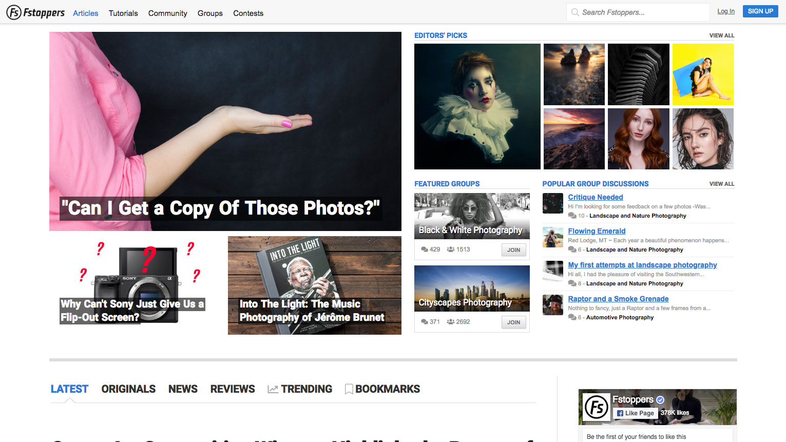 Photography websites: Fstoppers