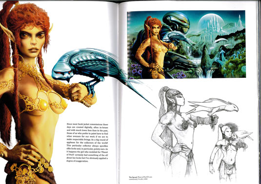 jim burns art spread