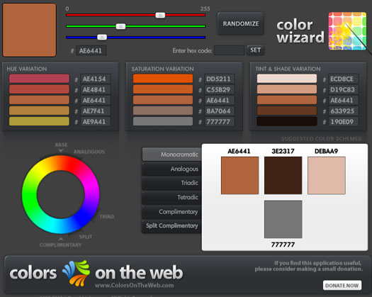 Colour schemes: Colors on the Web