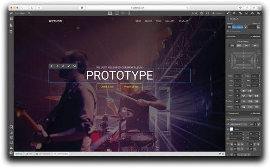 Prototyping tools: Webflow