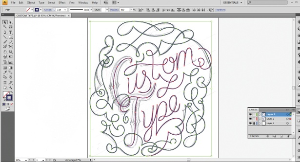 Use the Calligraphic Brush tool: step 3