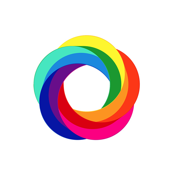 Rainbow typography