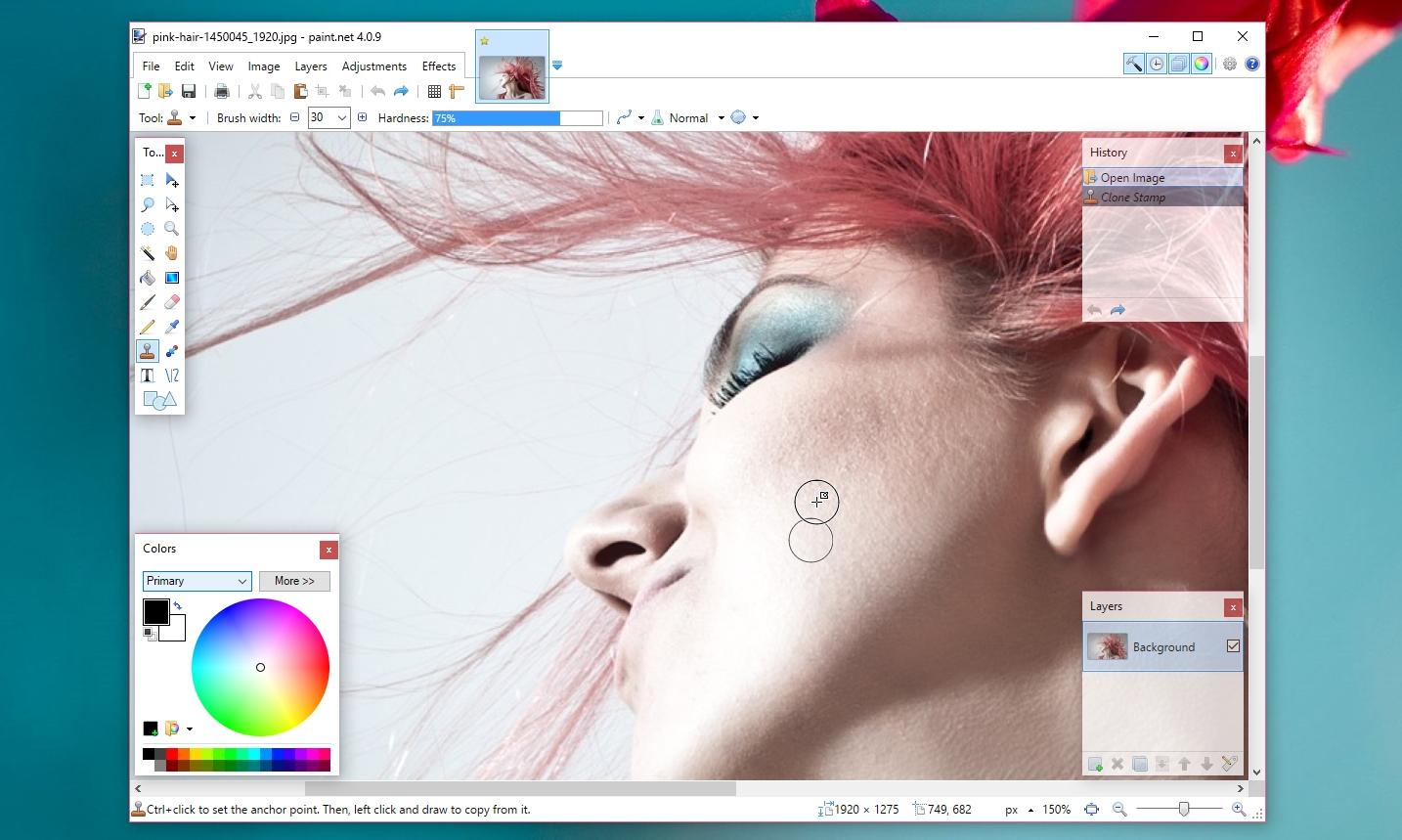 Paint.NET clone stamp