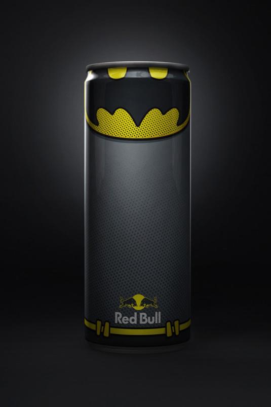 RedBull superhero packaging